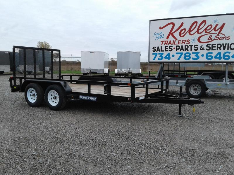2019 Sure-Trac 7x14 7K Tube Top Utility Trailer