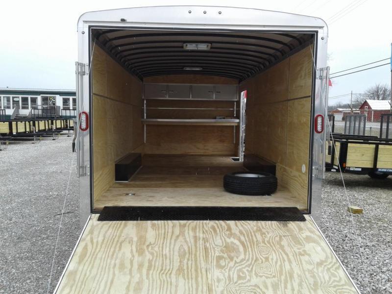 2019 8.5x20 10K Sure-Trac Round Top Landscape Pro Enclosed Cargo Trailer