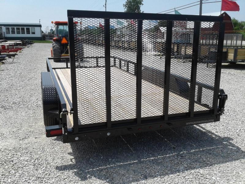 2019 Sure-Trac 7x16 7K Tube Top Utility Trailer