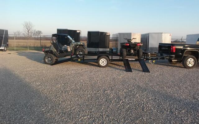 2019 Sure-Trac 7x14 ATV Tube Top Utility Trailer