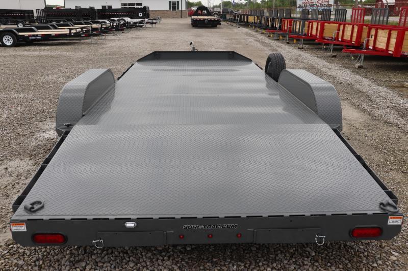2019 Sure-Trac 7x18 7K Steel Deck Car Hauler Trailer