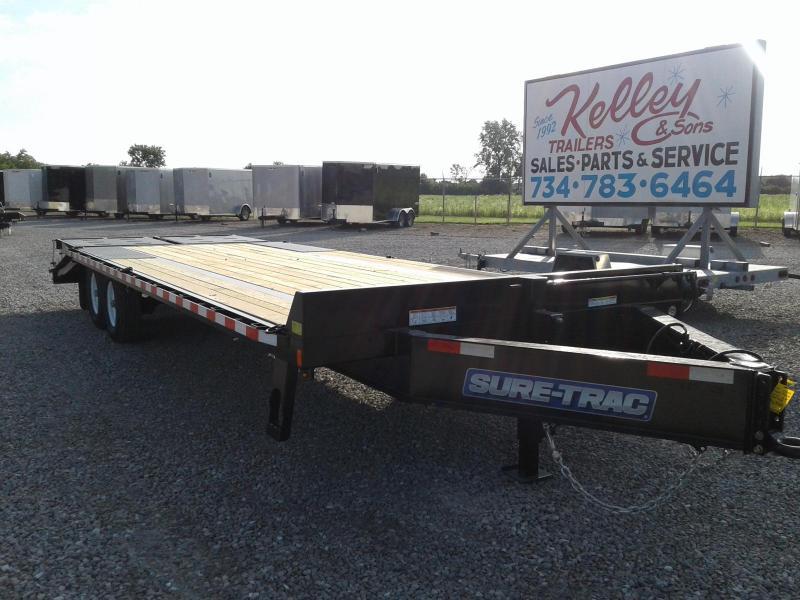 2018 Sure-Trac 8.5x20+5 Low Pro 15K Deckover Tandem Equipment Trailer
