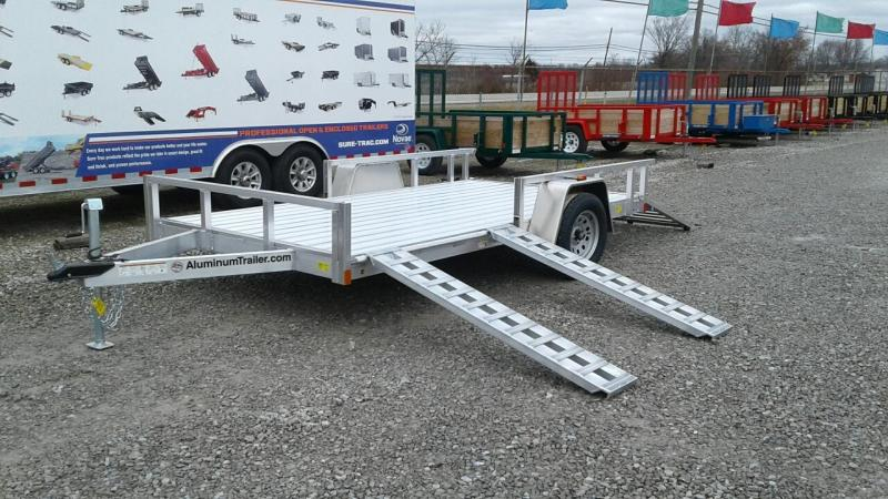 2019 Aluminum Trailer Company 7x12 Open Utility Trailer w/ Sides