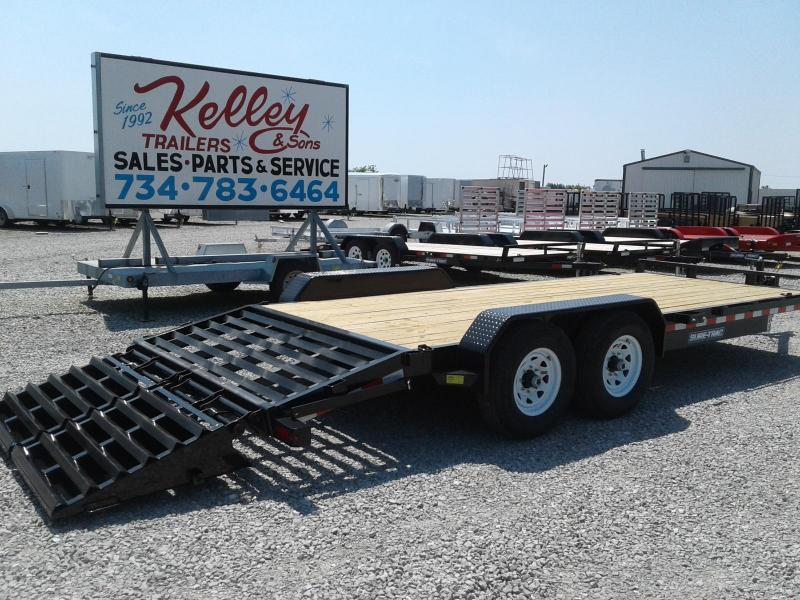 2019 Sure-Trac 7x17 + 3 14K Implement HD Universal Ramp Equipment Trailer
