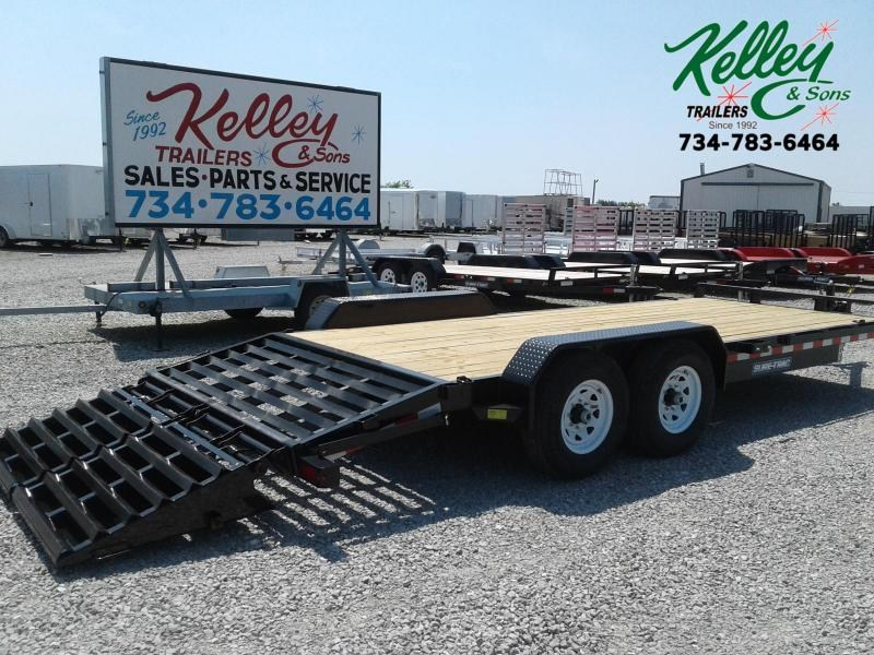 2020 Sure-Trac 7x17 + 3 14K Implement HD Universal Ramp Equipment Trailer