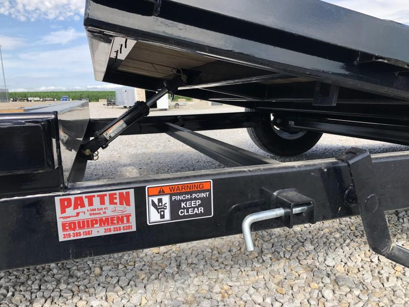 New H & H 12' Tilt + 4' Stationary Scissors Lift Trailer 7800#