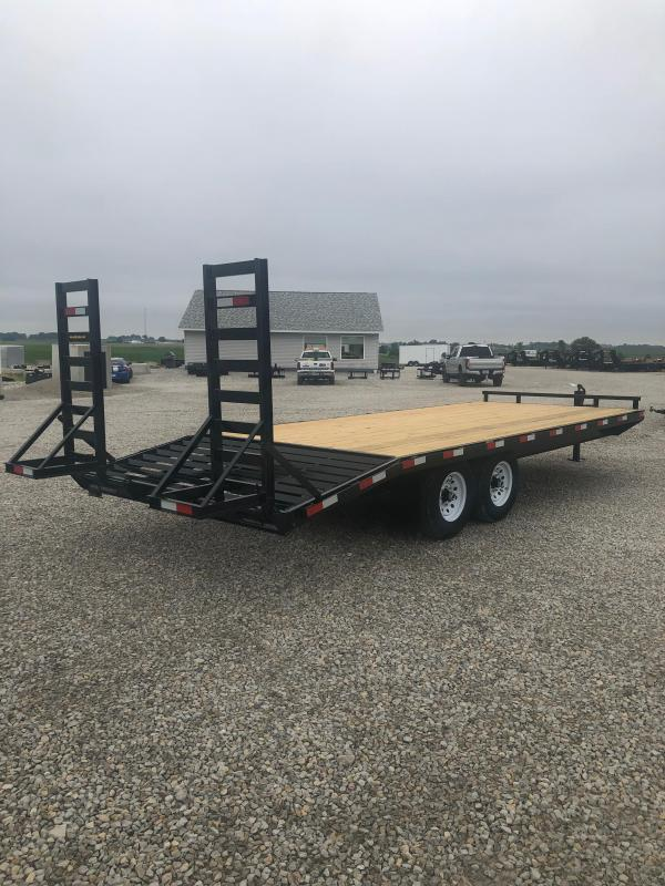 New H&H 22' Deckover 14000# | Patten Equipment and Trailers in Cedar  Pin Flat Trailer Wiring Diagram Over Wide on