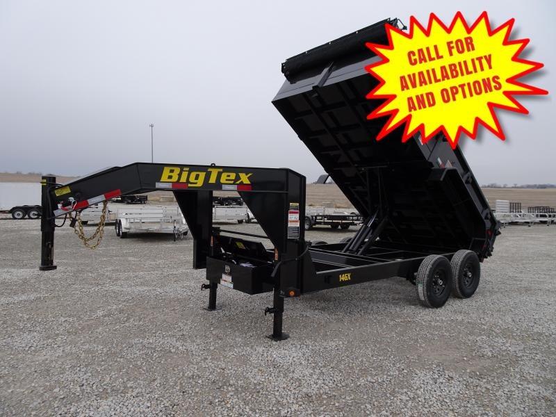 New Big Tex 14' Gooseneck Dump 14000#