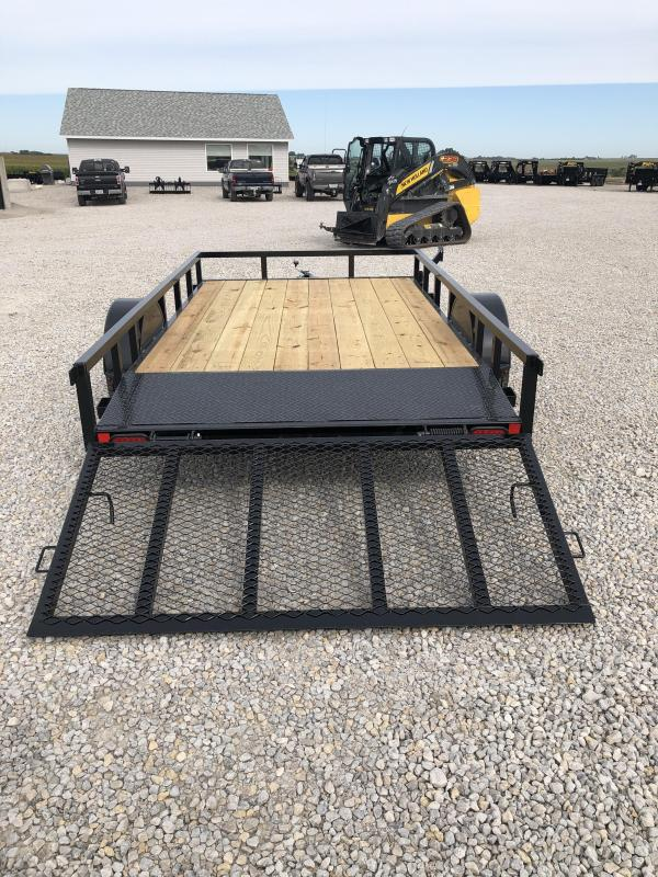"New Lamar Trailers 83""x12' Heavy Duty Utility Trailer"