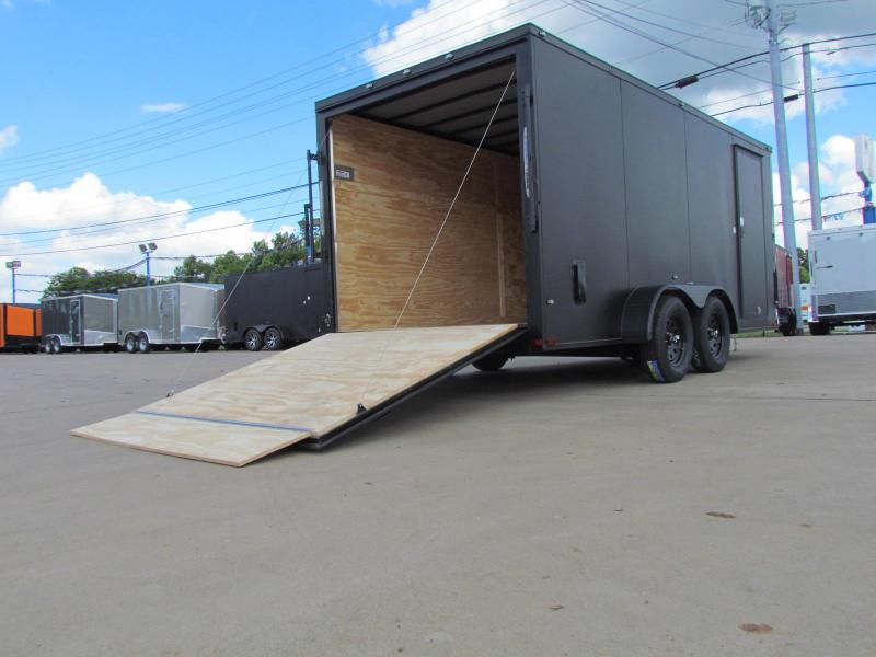 2019 Spartan 7x16TA2 Matte Black Midnight Edition Enclosed Cargo Trailer