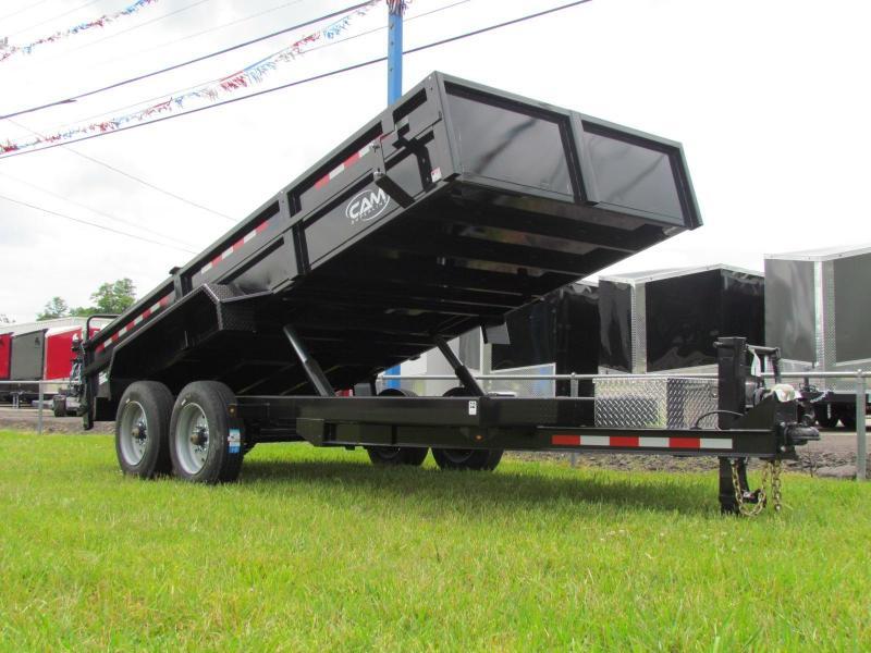 2019 Cam Superline Low Pro HD 7x16 8 Ton Dump Trailer in Ashburn, VA