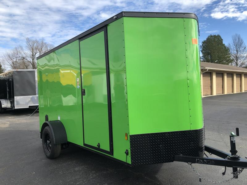 2019 Forest River 6x12SA Arctic Green Blackout Enclosed Cargo Trailer in Ashburn, VA
