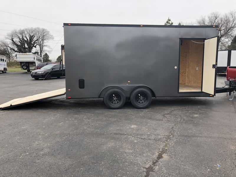 2019 Spartan 7x16x7 TA Charcoal Blackout Enclosed Cargo Trailer in Ashburn, VA