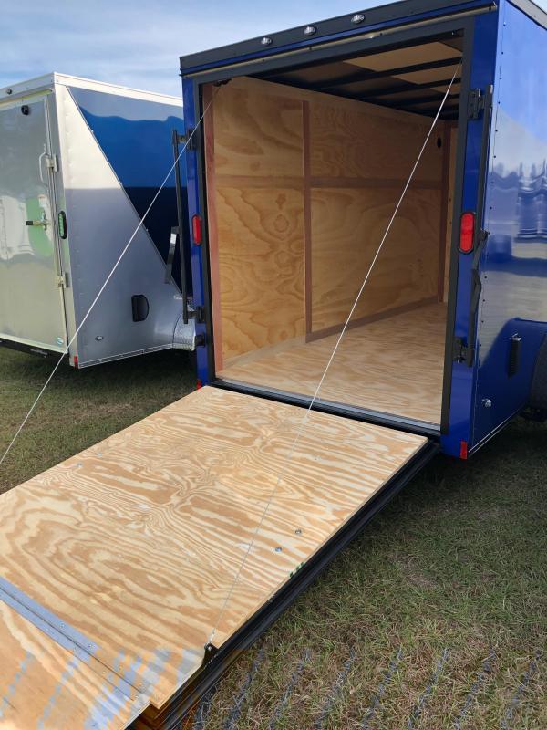 2019 Forest River 6x12 Blue w/ Blackout Pkg Enclosed Cargo Trailer