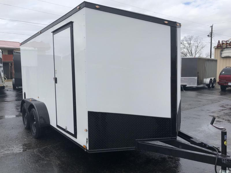 2019 Spartan 7x14TA2 White Blackout Enclosed Cargo Trailer