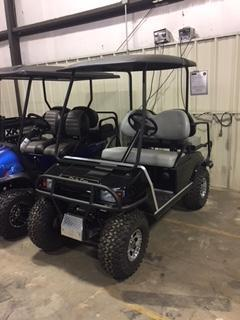 2010 Club Car DS Golf Cart Lifted Black 4 Passenger