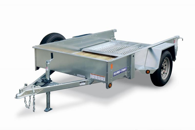 2018 Sure-Trac 5x10 3k Galvanized High Side Utility Trailer