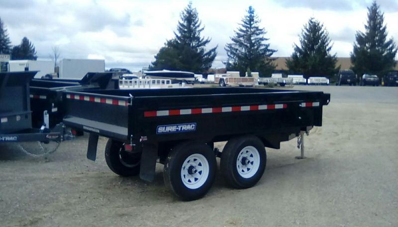 2018 Sure-Trac 72 IN X 10 Deckover Dump 10K Single Ram