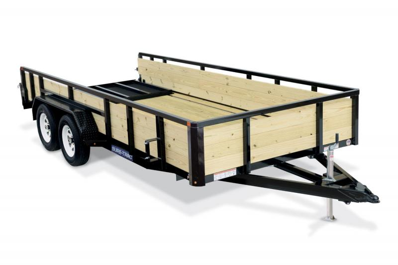 2019 Sure-Trac 7X14 3 Board 7K Utility Trailer