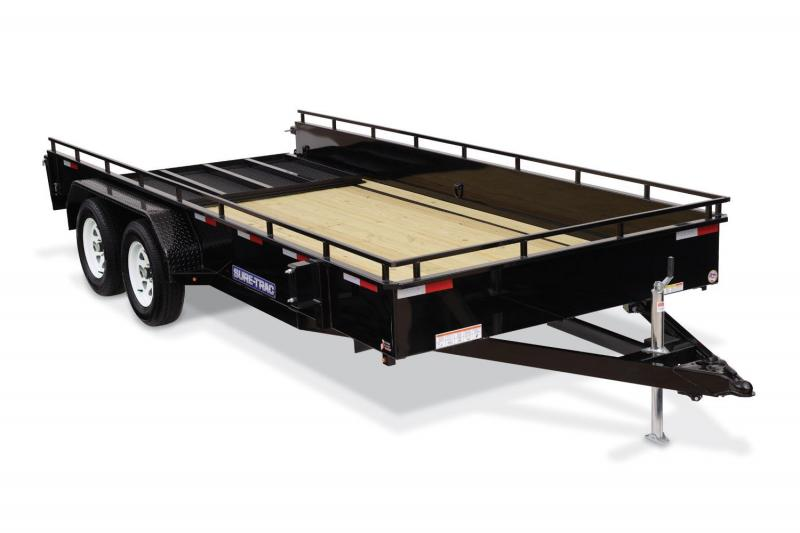 2018 Sure-Trac 7X16 HIGHSIDE Utility Trailer