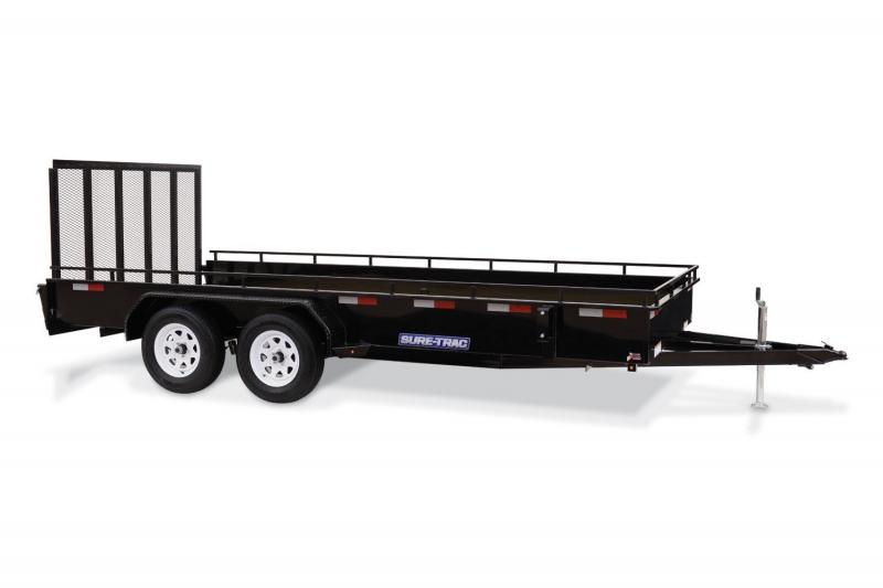 2018 Sure-Trac 7x16 STEEL HIGH SIDE 7K Utility Trailer