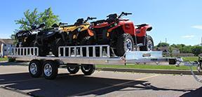 2020 Aluma 7x18 7k ATV Trailer