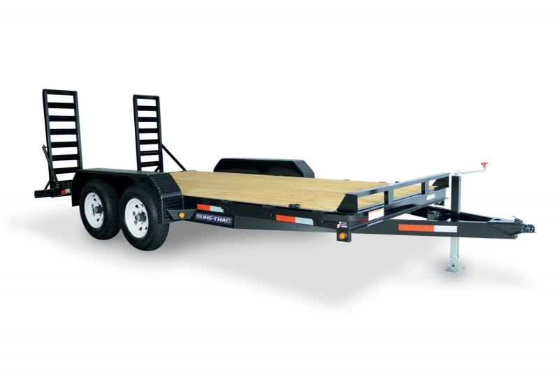 2019 Sure-Trac 7X18 IMPLEMENT TILT Utility Trailer