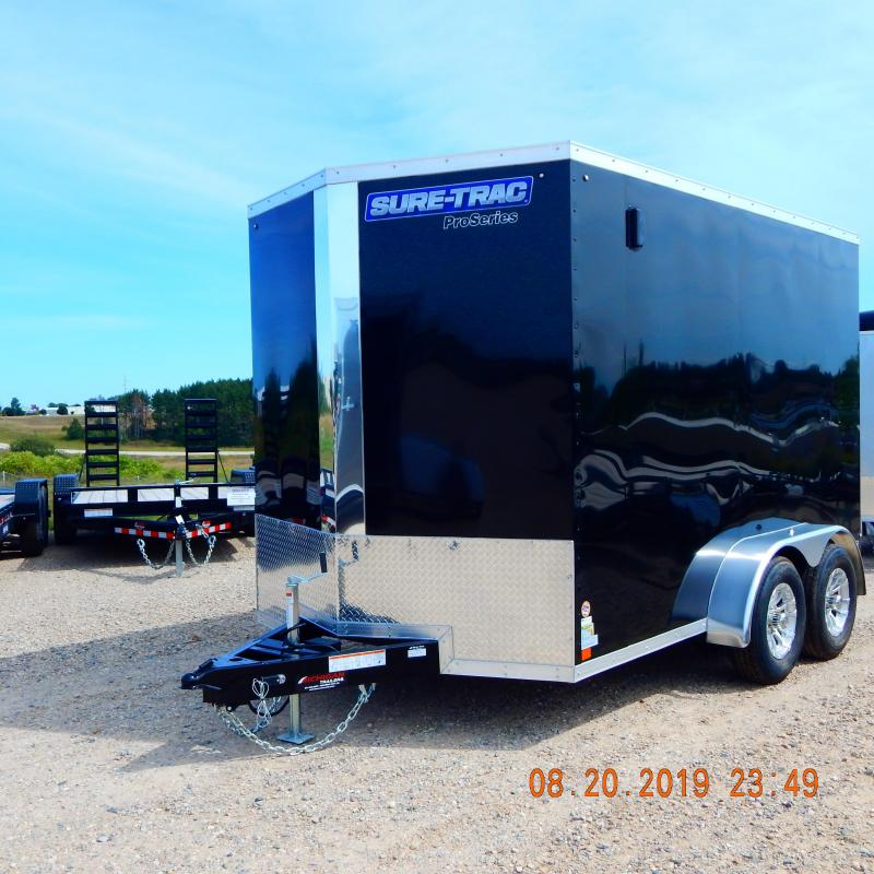 2020 Sure-Trac 7x12 10k Pro-Series Wedge Enclosed Cargo Trailer