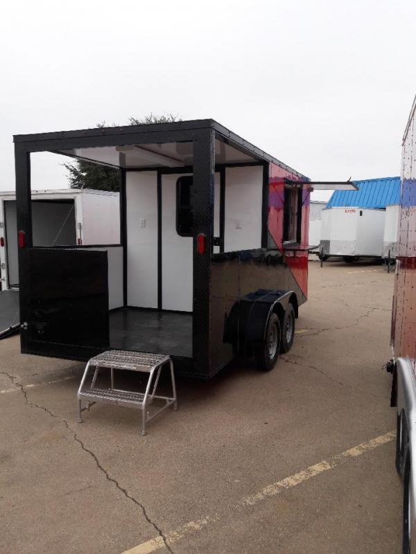 2018 Red/ Black 7x16 Concession BBQ Smoker Trailer in Ashburn, VA