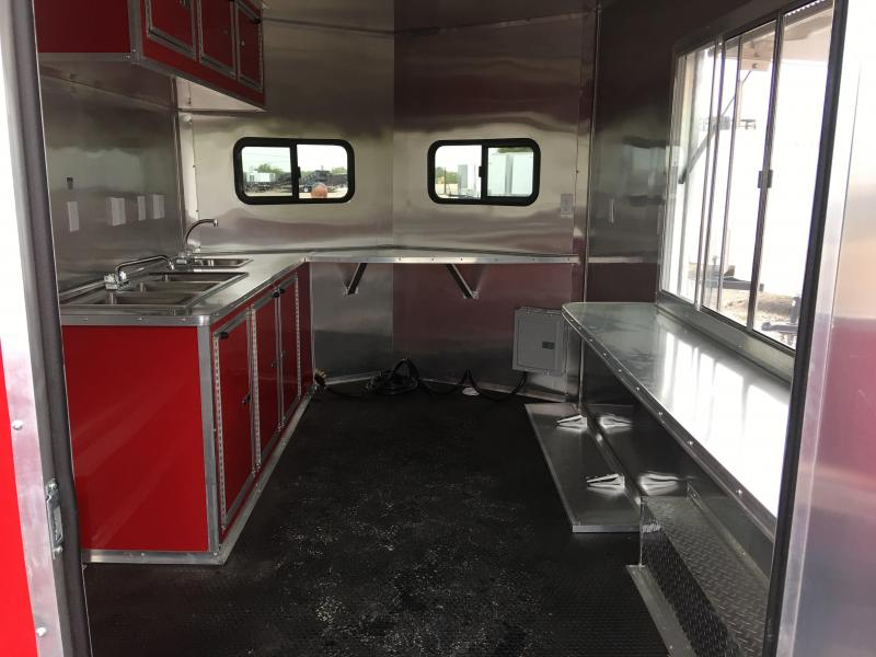 2018 8X16TA Porch BBQ Trailer