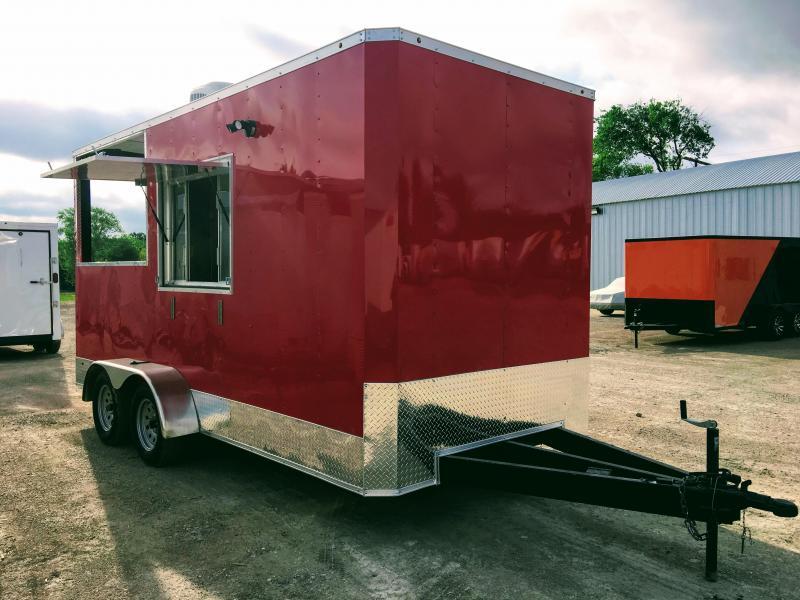 2018 7X16TA BBQ Porch Vending / Concession Trailer in Ashburn, VA