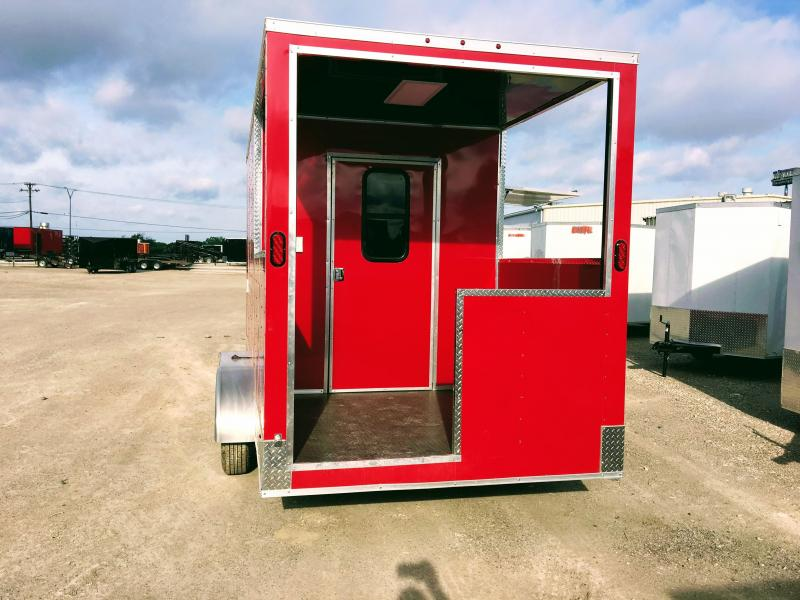 2018 7X16TA BBQ Porch Vending / Concession Trailer