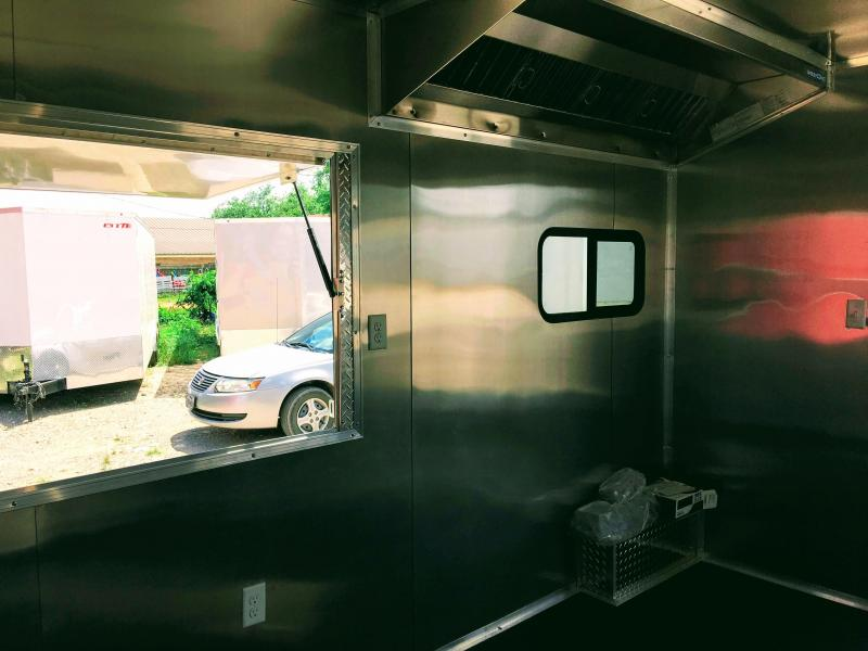 8.5X24TA Porch BBQ Smoker Concession Trailer