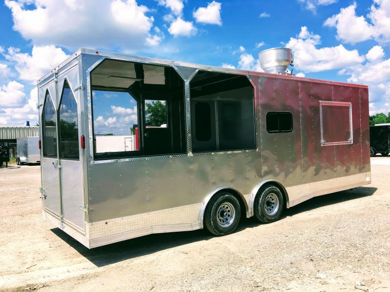 8.5X24TA Porch BBQ Smoker Concession Trailer