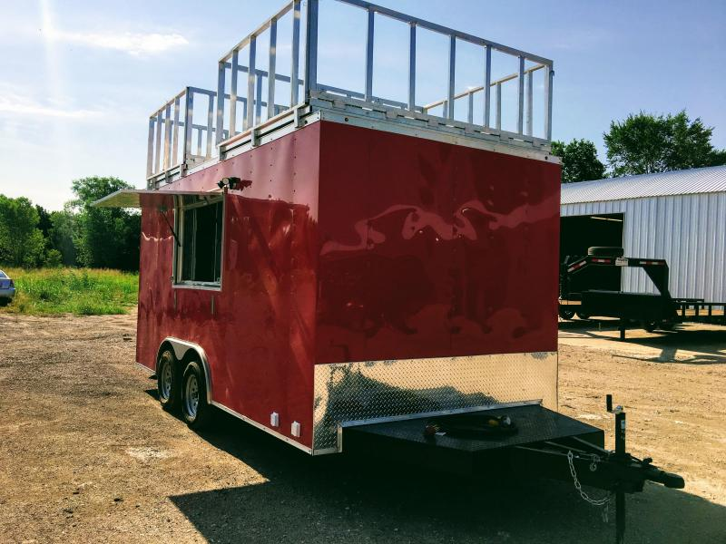 New 8.5X16TA Red Vending / Concession Trailer