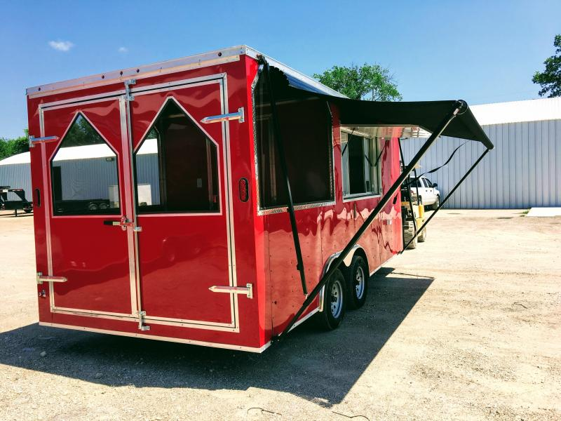 2019 8.5X18TA BBQ Porch Concession Trailer