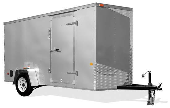 WHITE 6x12 RC ENCLOSED