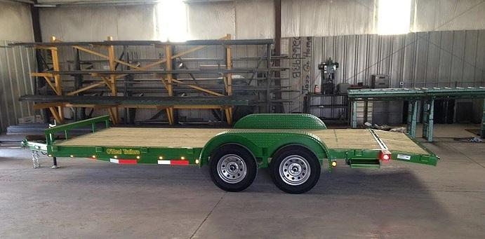O'NEAL 6.10x18 TANDEM CAR HAULER WITH BEAVER TAIL