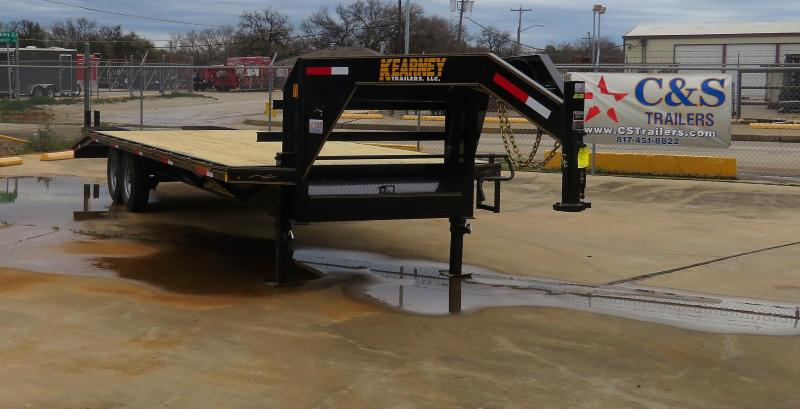 """2019 Kearney 102"""" x 25' Flatbed Gooseneck Trailer"""