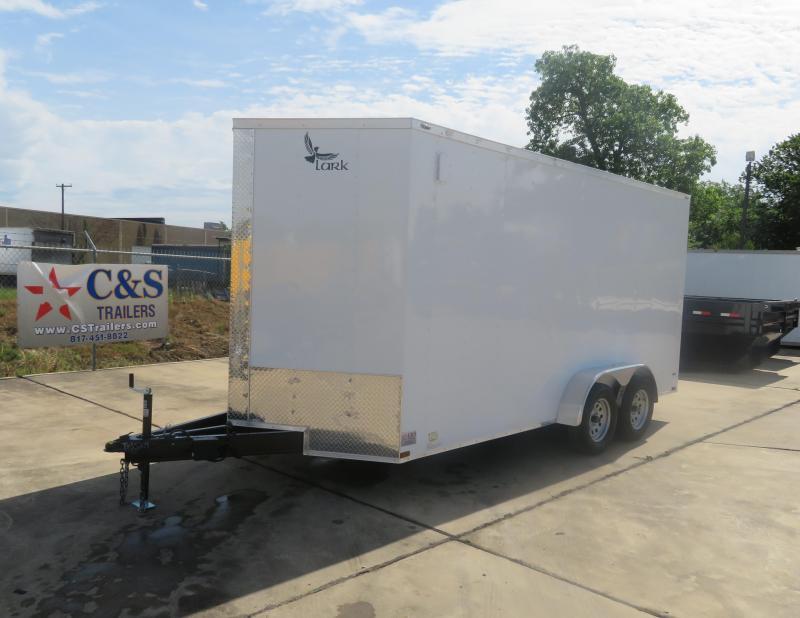 2019 Lark 7' x 16' Enclosed Cargo Trailer