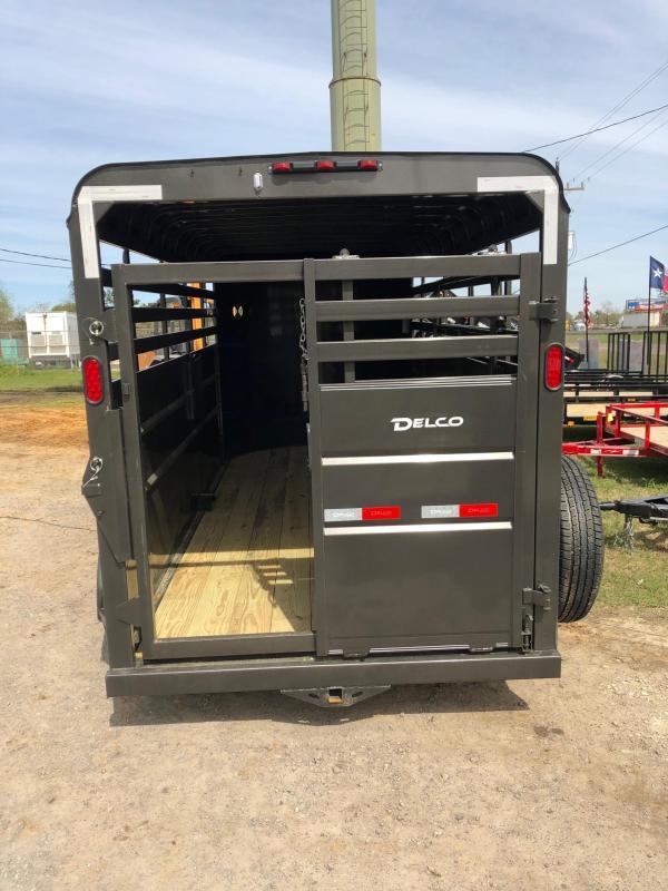 2019 Delco Trailers 6x16 BPTA Livestock Trailer