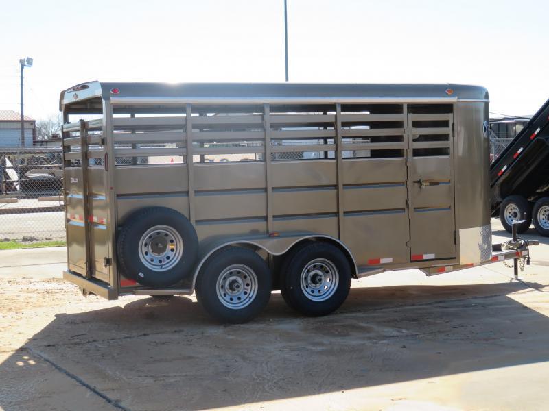 2019 Delco Trailers 72X16 BUMPERPULL Livestock Trailer