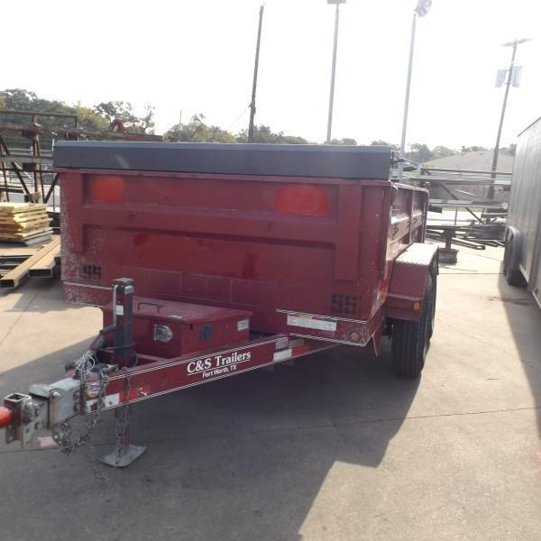 "Rental 55 - Lamar 77"" x 10' Dump Trailer in Ashburn, VA"