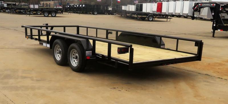 "2019 Buck Dandy 77"" x 18"" Utility Pipetop Trailer"