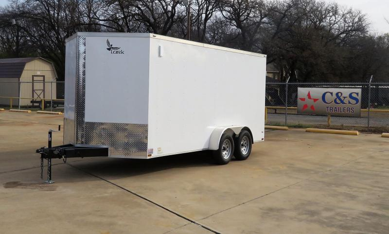 2019 Lark Trailers 7 x 16 TA Enclosed Cargo Trailer