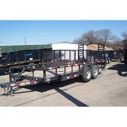 "Rental 30 - C & S 83"" x 18' Equipment Trailer in Ashburn, VA"
