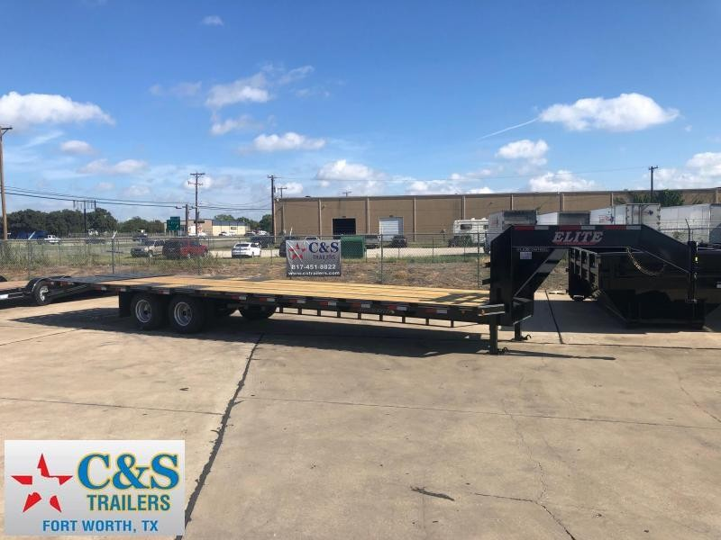 "2019 Elite Trailers 102"" x 32' Flatbed Trailer"