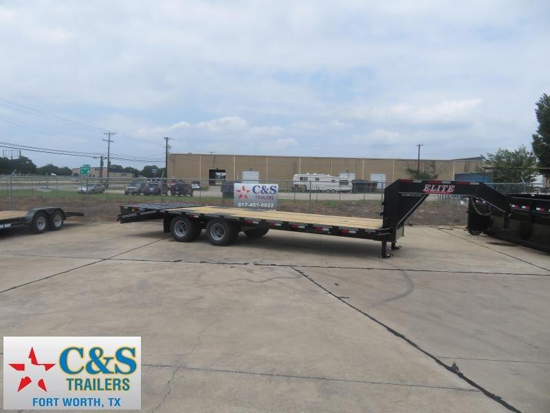2019 Elite Trailers 102 X 25 Flatbed Trailer