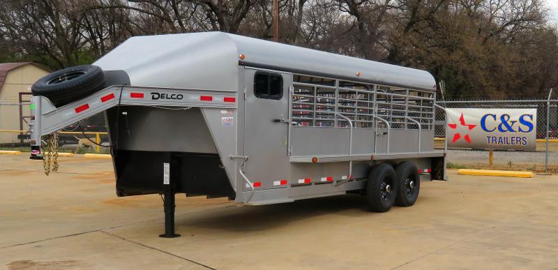 2019 Delco Trailers 80 x 20 Livestock Trailer