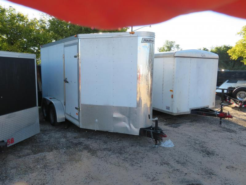 "Rental 50 - Haulmark 80"" x 15 1/2'  (12') V-Nose Enclosed Cargo Trailer"